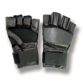 Leather Grappling Gloves Black