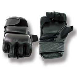 Leather Glove w/Lace Up Thick Black
