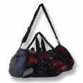 Sports Bag Black Mesh Duffel Style