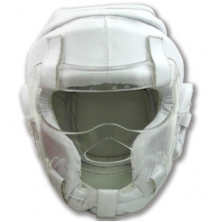Vinyl Head Gear White with Plastic Mask