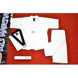 Taekwondo Uniform Black Collar 8oz