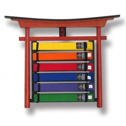 Bushido Belt Display Wall Mount 6 Step