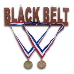 Black Belt Wood Medal Display